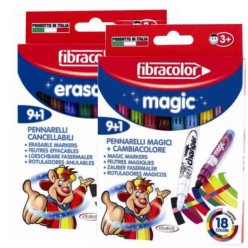 Fibracolor Magic Pens/Erasable Combined